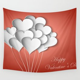 Balloons hearts from paper Valentine's Day Wall Tapestry
