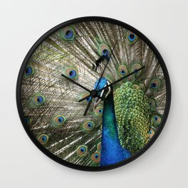Peacock Indian Blue Wall Clock