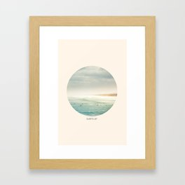 surf's up. Framed Art Print