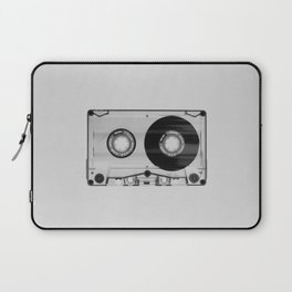 Vintage 80's Cassette - Black and White Retro Eighties Technology Art Print Wall Decor from 1980's Laptop Sleeve