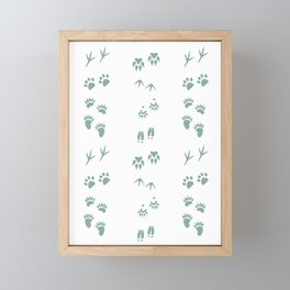 Tracks (Moss) Framed Mini Art Print