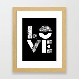 Love black and white contemporary minimalist typography design home wall decor bedroom Framed Art Print