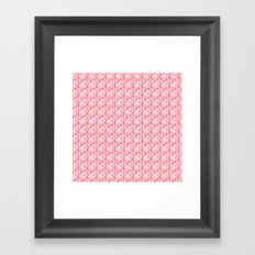 Field of Daisy Flowers in Pink and Green Framed Art Print