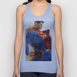 Watercolour Superman Unisex Tank Top