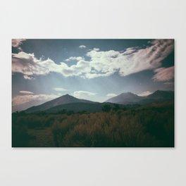mono lake moon shine Canvas Print