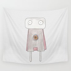 Robot superhero Wall Tapestry