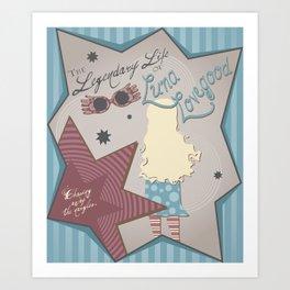 Luna's Life Art Print