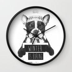 Winter is boring Wall Clock