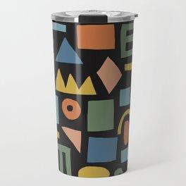 Colorful Shapes Travel Mug