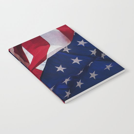 RED, WHITE AND BLUE Notebook