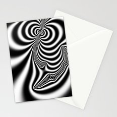 Black and White Fractal 7 Stationery Cards
