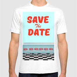 Save the Date vintage american Diner T-shirt