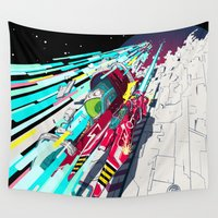 liverpool Wall Tapestries featuring Faster than GAME OVER v1.0 +ART PRINT DESIGN+ by Deckard977