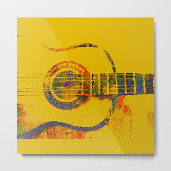 Guitar Colours Metal Print