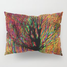 Abstract tree on a colorful background Pillow Sham