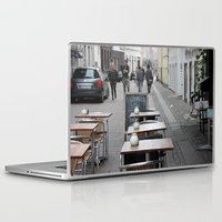 copenhagen Laptop & iPad Skins featuring Copenhagen street cafe by RMK Creative