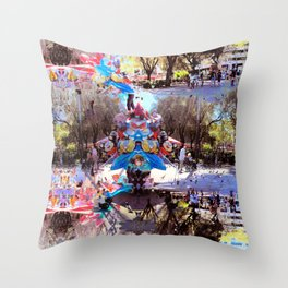 Summer space, smelting selves, simmer shimmers. [extra, 8] Throw Pillow
