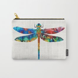 Colorful Dragonfly Art By Sharon Cummings Carry-All Pouch