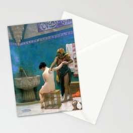 12,000pixel-500dpi - Jean-Leon Gerome - The Bathing - Digital Remastered Edition Stationery Cards