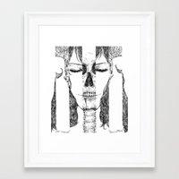 sleeping beauty Framed Art Prints featuring sleeping beauty by Sheryn Ng (rynisyou)