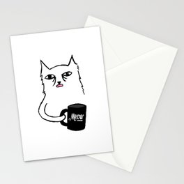 Tired Cat Stationery Cards