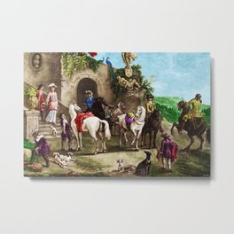 Prelude to a Hunt Landscape English Painting by Jeanpaul Ferro Metal Print