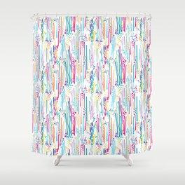 Rainbow Doodle & Dot Shower Curtain