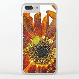 Orange Studio Flowers Photograph Clear iPhone Case