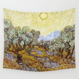 Olive Trees by Vincent van Gogh Wall Tapestry