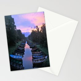 Early Morning at the Boat park Stationery Cards