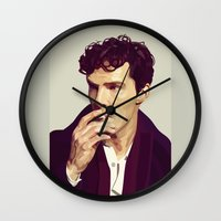 ben giles Wall Clocks featuring Ben by Grace Teaney Art