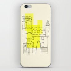 yellow castle iPhone Skin