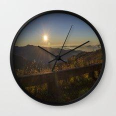 Sunrise on the Blue Ridge  Wall Clock