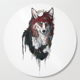 Tribal Wolf Cutting Board