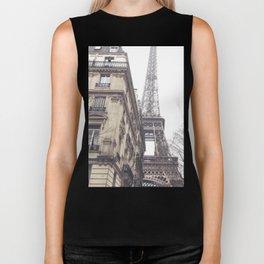 Paris streets, Eiffel tower, city skyline, industrial fine art photo, shabby chic Biker Tank