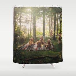 The Teddy Bear's Picnic Shower Curtain