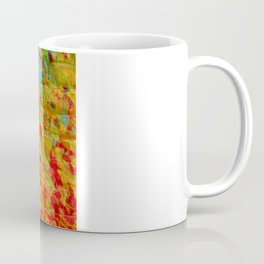 COLLISION COURSE - Bold Rainbow Splash Bricks Urban Jungle Ocean Waves Nature City Acrylic Painting Coffee Mug