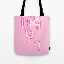 Pink Patch Tote Bag