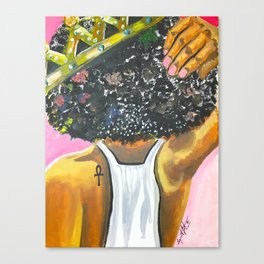 Crowned Royal Canvas Print