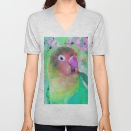 Conure in the Cosmos Unisex V-Neck
