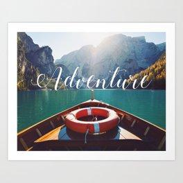 Live the Adventure - Typography Art Print