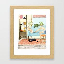Cat Days of Summer Framed Art Print
