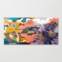 map Canvas Prints featuring map by Robert Deutsch