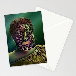 Maori Warrior 4 Stationery Cards