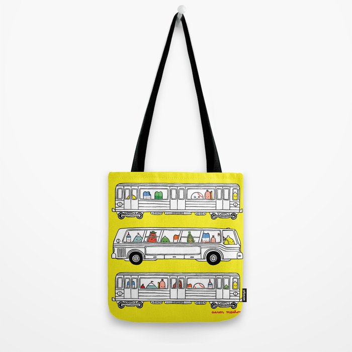 """""""Pop and Pals: Commuting""""  Tote Bag"""