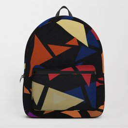 Colorful geometric pattern VII Backpack