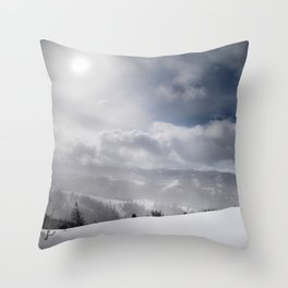 Winter Hills Throw Pillow