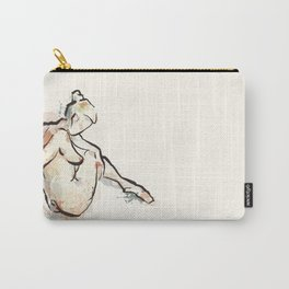 Daydream, Seated Nude Carry-All Pouch