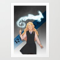 luna lovegood Art Prints featuring Luna Lovegood by Oochami