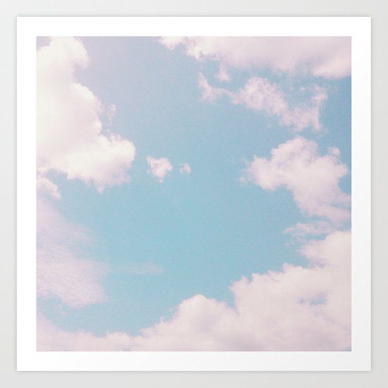 Every Cloud Has a Pink Lining Art Print